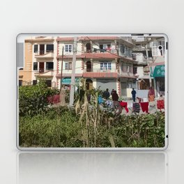NEIGHBORHOOD ON THE EDGE OF KATHMANDU NEPAL Laptop & iPad Skin