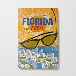 Florida Vintage Travel Poster Metal Print
