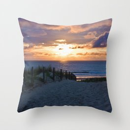 way to the beach 2 Throw Pillow