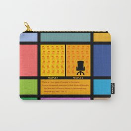 "There are two types... ""Mark Zuckerberg"" Life Inspirational Quote Carry-All Pouch"