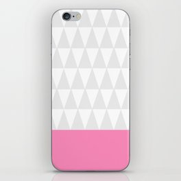 Grey Triangles with Pink iPhone Skin