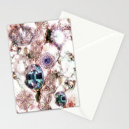 Pearly Bling Stationery Cards