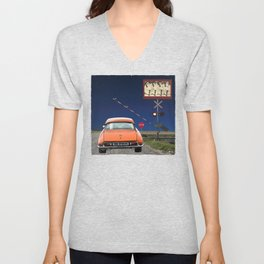 Can-can Stop Sign Unisex V-Neck