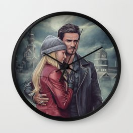 The Pirate and the Savior Wall Clock