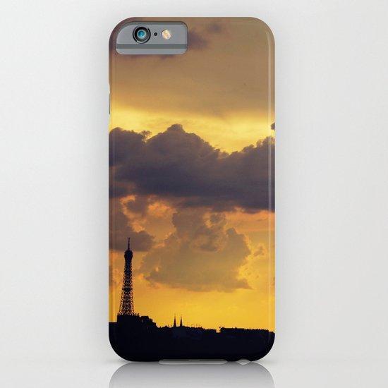 Sunset over Paris iPhone & iPod Case