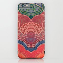 Double Vision Pink Mandala Flower iPhone Case