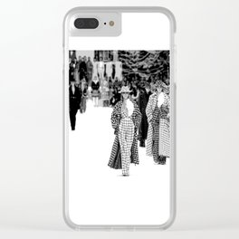 iconic karl looks black and white Clear iPhone Case