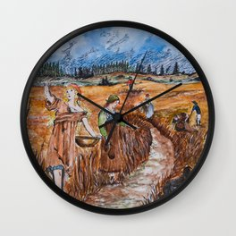 The First Harvest Wall Clock