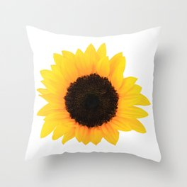 Sunflower Single Bloom Throw Pillow