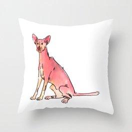 Sage - Dog Watercolour Throw Pillow