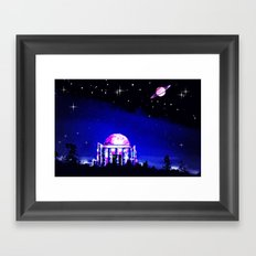 Observer to space. Framed Art Print