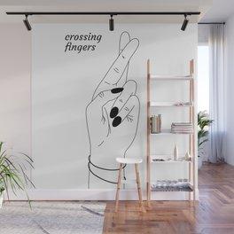 crossing fingers Wall Mural
