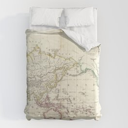 Vintage Map of The World (1816) Comforters