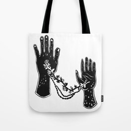 Joined Hands Tote Bag