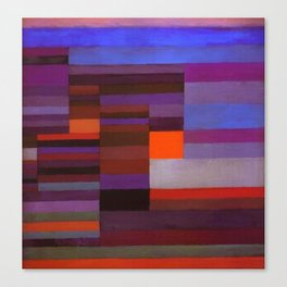 Paul Klee Fire In The Evening Colorful Abstract Art Canvas Print