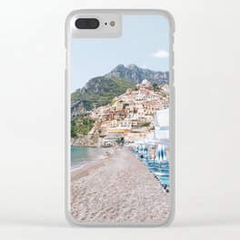 Amalfi Coast Beach Clear iPhone Case