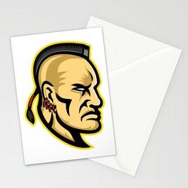 Native American Mohawk Mascot Stationery Cards