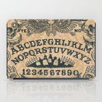 ouija iPad Cases featuring Ouija Board by ezmaya