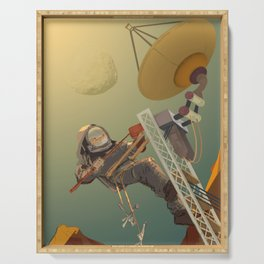 NASA Mars Recruitment Poster - Technicians Wanted Serving Tray