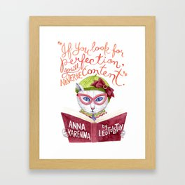 Looking for Purr-fection Framed Art Print