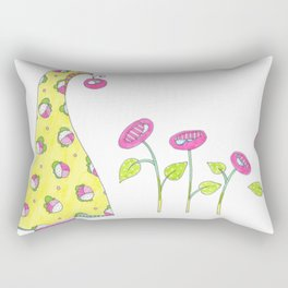 Whimsical Tree and Flowers Rectangular Pillow