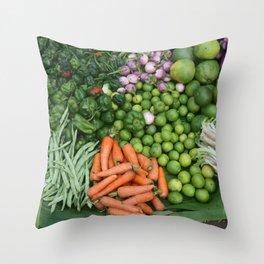 Asia vegetables on market #society6 #vegetables Throw Pillow
