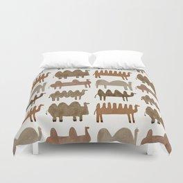 Funny camels Duvet Cover