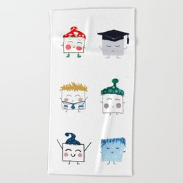 MyHappySquare Collection Beach Towel