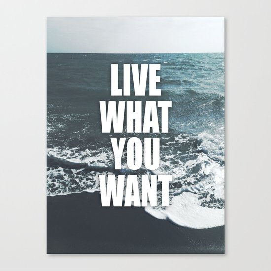 Live What You Want Canvas Print