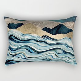 Indigo Sea Rectangular Pillow