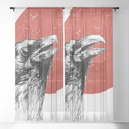 The Raven Sheer Curtain