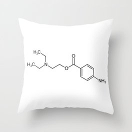 cocaine chemical formula Throw Pillow