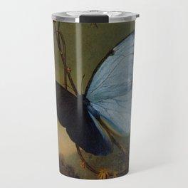 Blue Morpho Butterfly 1865 By Martin Johnson Heade | Reproduction Travel Mug