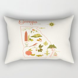 Georgia State Love Rectangular Pillow