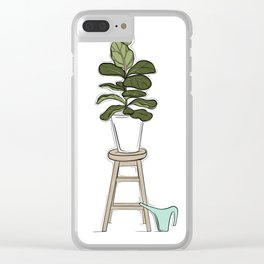 Fiddle Fig Tree Clear iPhone Case