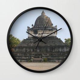 Buddhist temple Wat Visun, Luang Prabang, Laos Wall Clock