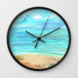 Beachy Abstract Wall Clock