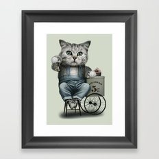 ICE CREAM SELLER Framed Art Print