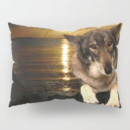Dog German Shepherd and Sunset Pillow Sham