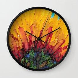 Flaming Flower Wall Clock