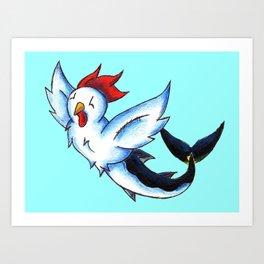 Chickenfish Art Print