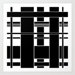 Black and White Weave Art Print