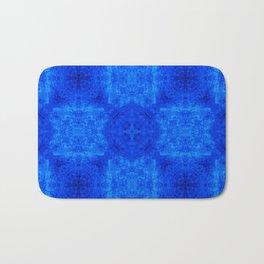 Blue Abstract Design Bath Mat