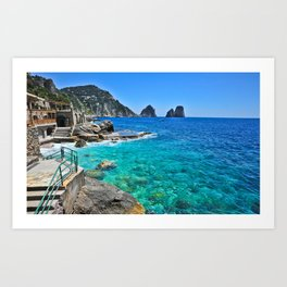 Blue Waters of Capri Art Print