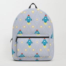 Rockets and stars pattern Backpack
