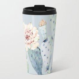 Prettiest Rose Cactus Blue Travel Mug