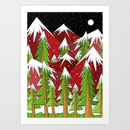 Xmas Mounts Art Print