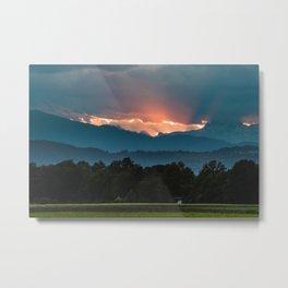 Last rays of sun before sunset Metal Print