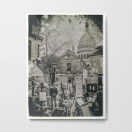 Place du Tertre - Paris (Old plate camera) Metal Print