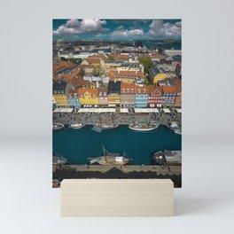Colorful houses of Copenhagen Mini Art Print